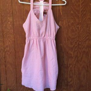 Dresses & Skirts - Pink/ white pinstriped sundress